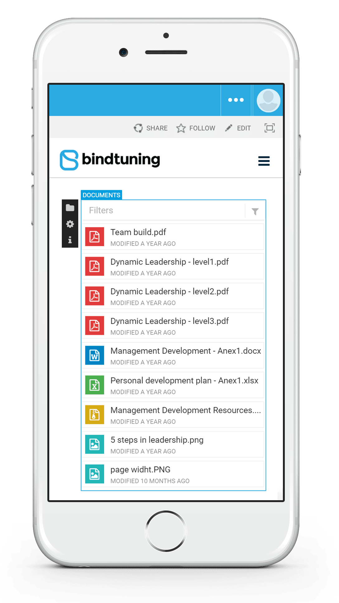 BindTuning Mobile Web Parts Panel using SharePoint