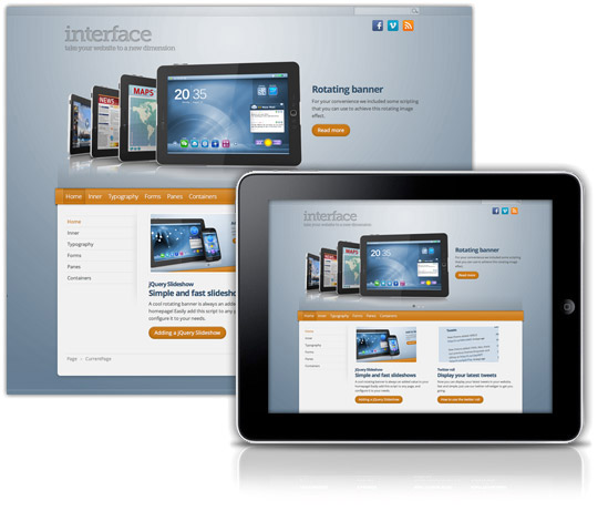 Interface theme for sharepoint
