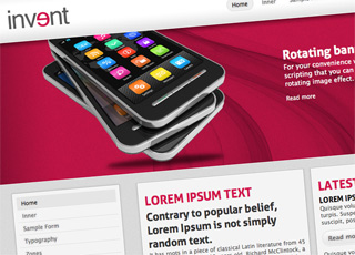 Invent theme for html