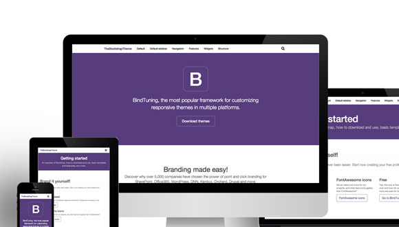 how to use bootstrap themese