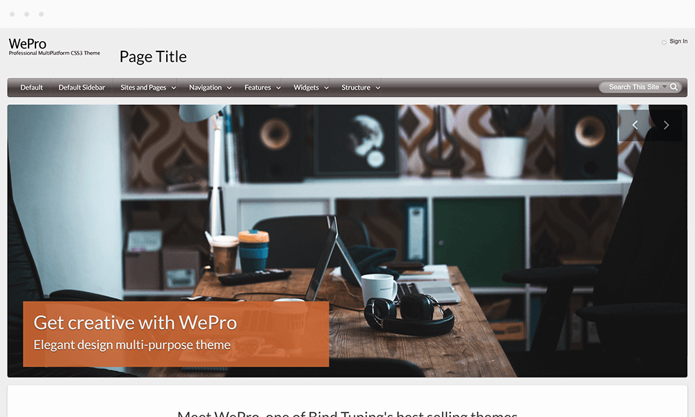 Brandable themes for the modern workplace | BindTuning